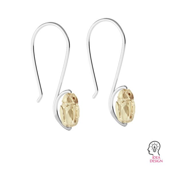 Closed ear wire, sterling silver 925, BO 64