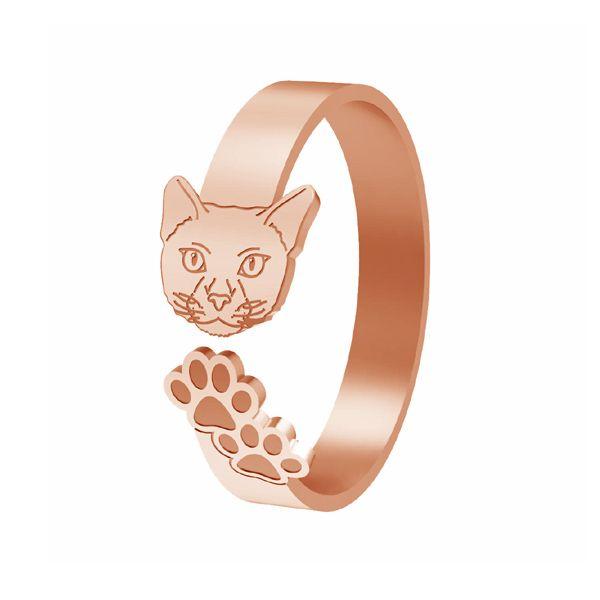 Cat ring, sterling silver 925, LK-1402 - 0,50