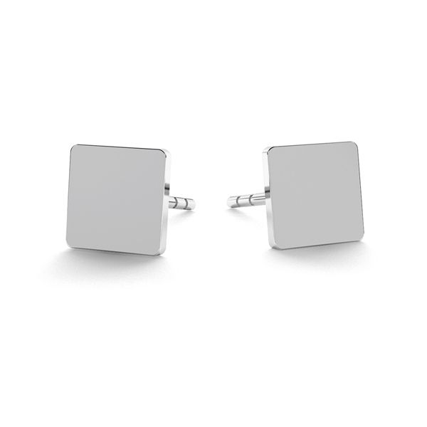 Rectangle earrings, sterling silver 925, LK-0617 KLS - 0,50