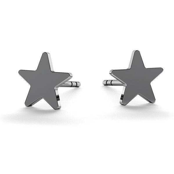 Star earrings, sterling silver 925, LK-0617 KLS - 0,50