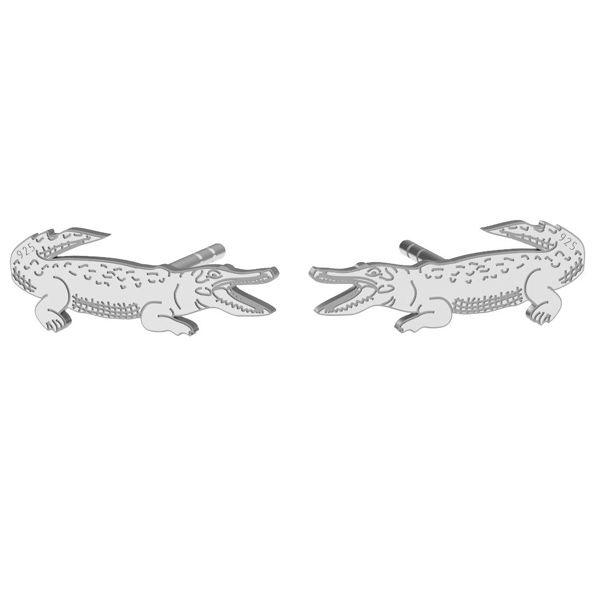Crocodile earrings, sterling silver 925, LK-1388 KLS - 0,50