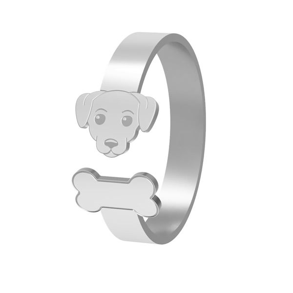 Dog ring, sterling silver 925, LK-1403 - 0,50
