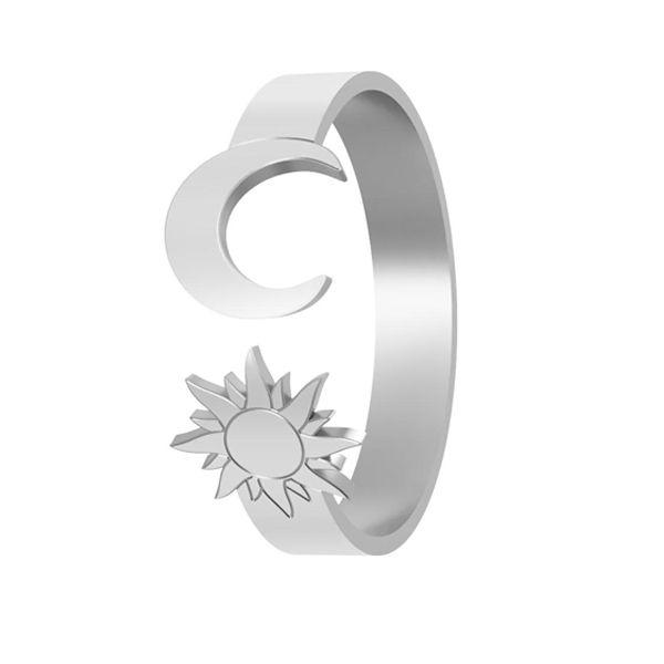 Sun & moon ring, sterling silver 925, LK-1405 - 0,50