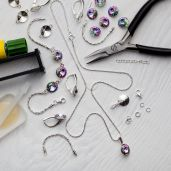 DIY Jewellery Set - Set, silver 925, Swarovski, DIY with SILVEXCRAFT  NO.