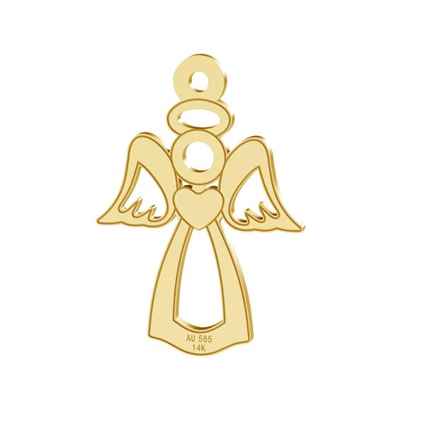 Angel pendant, AU 585 14K, LKZ-00332 - 0,30