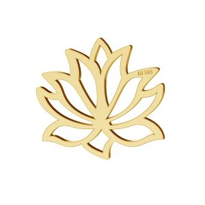 Lotos flower pendant gold 14K, LKZ-00771 - 0,30
