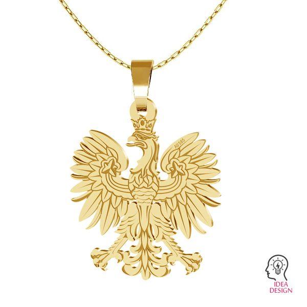 Eagle pendant, gold 14K, LKZ-00471 - 0,30