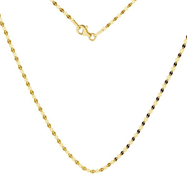 Gold chain coffe 14K, SG-FBL 030 AU 585, 14K - 45 cm