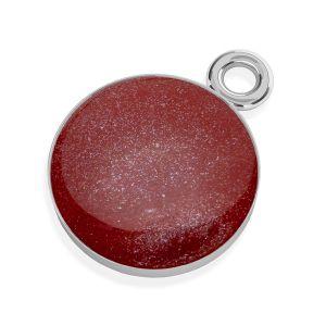 Red epoxy pendant, silver 925, SILVEXCRAFT-PENDANT 004