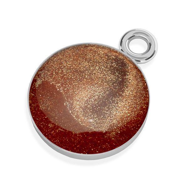 Color epoxy resin pendant, silver 925, SILVEXCRAFT-PENDANT 010