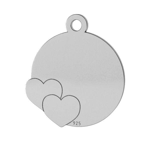 Hearts pendant, sterling silver 925, LK-1468 - 0,50