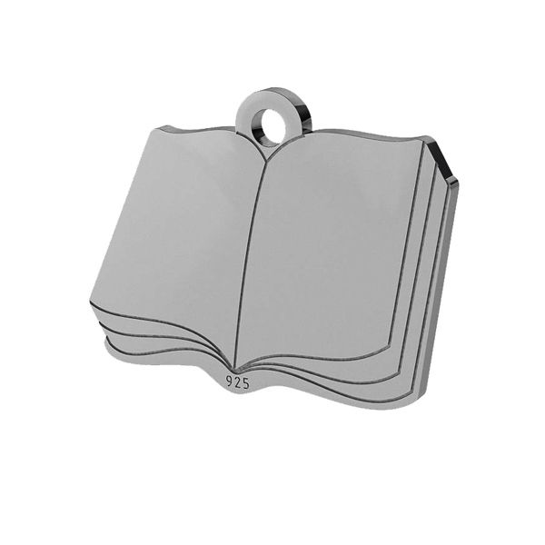 Book pendant, sterling silver 925, LK-1470 - 0,50