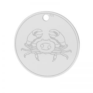 Cancer zodiac pendant, sterling silver 925, LK-1450 - 0,50