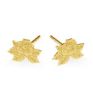 Rose earrings, sterling silver 925, LK-1477 KLS - 0,50