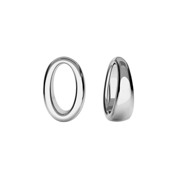 Oval pendant, sterling silver, ODL-00437