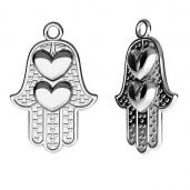 Hamsa hand pendant, sterling silver, ODL-00440