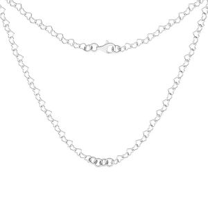Necklace base, sterling silver 925, S-CHAIN 28 (SRC 045)