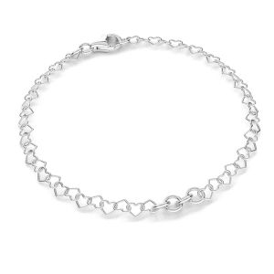 Base for bracelets, sterling silver 925, S-BRACELET 10 (SRC 045)