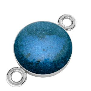 Color epoxy resin pendant connector, silver 925, SILVEXCRAFT-PENDANT 012