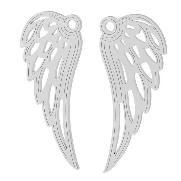 Wing pendant, sterling silver, LKM-2005