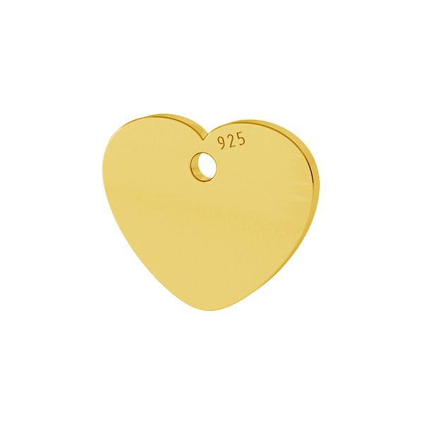 Heart pendant tag, sterling silver, LKM-2010
