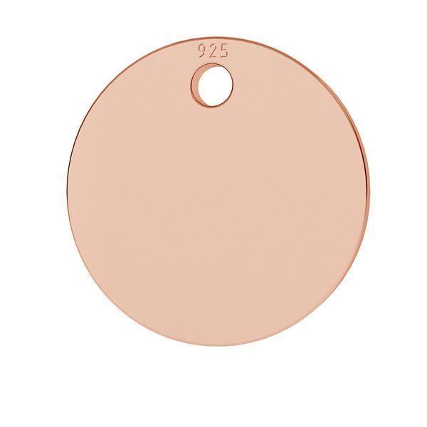 Round pendant tag, sterling silver, LKM-2001