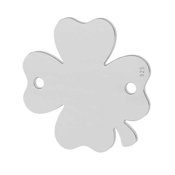Clover pendant connector tag, sterling silver, LKM-2019