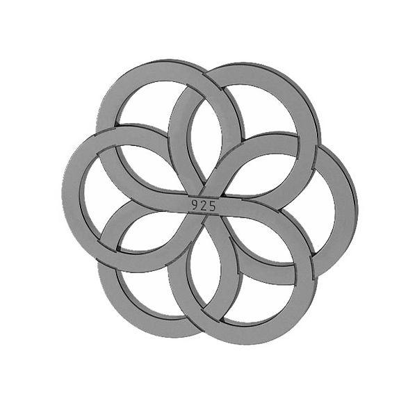 Openwork pendant, sterling silver, LKM-2030