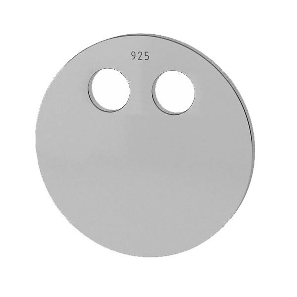 Round pendant tag 14 mm, sterling silver, LKM-2032