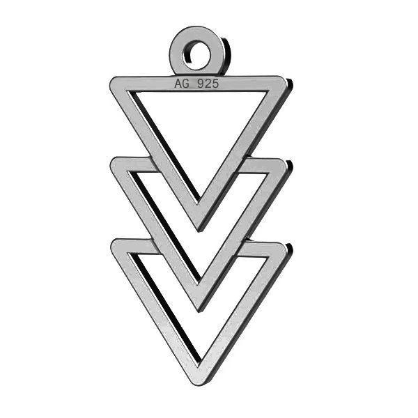 Triangle pendant, sterling silver, LKM-2036