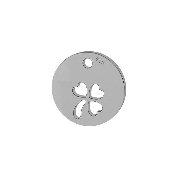 Clover pendant tag, sterling silver, LKM-2045