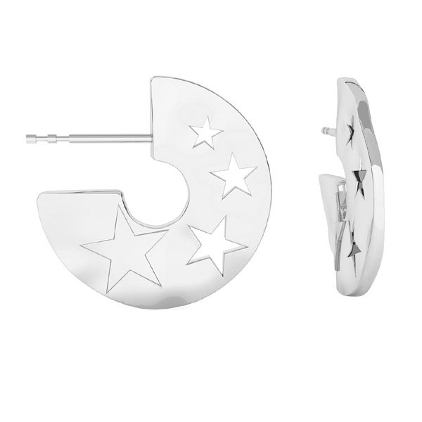 Starfish earring, sterling silver 925, ODL-00354 KLS