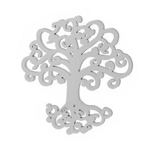 Tree pendant, sterling silver, LKM-2090 - 0,50