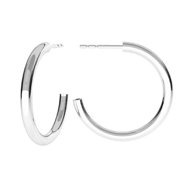Semicircular earrings, sterling silver 925, KLS-26
