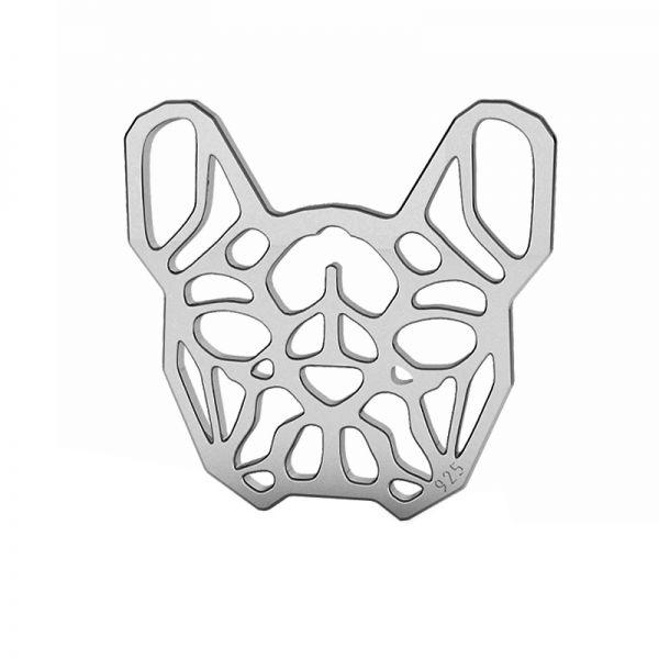 French bulldog pendant, sterling silver, LK-1557 - 0,50