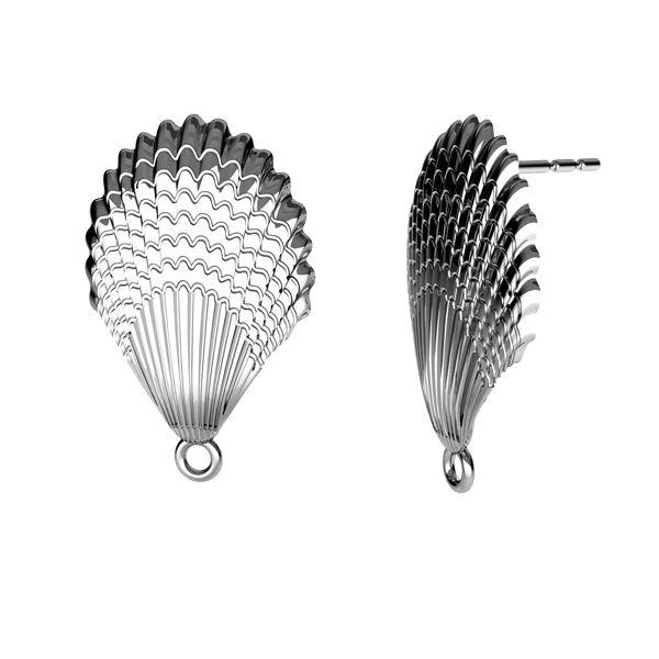 Shell earrings, silver 925, ODL-00515 KLS