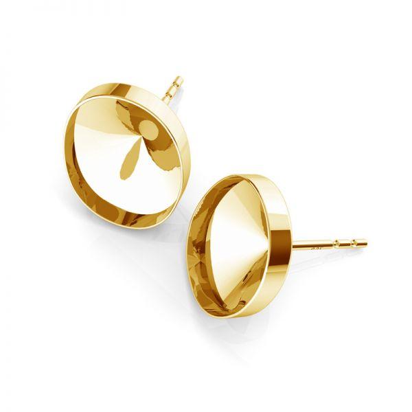 Sterling silver earrings Swarovski base, OKSV 4122 MM 14,0
