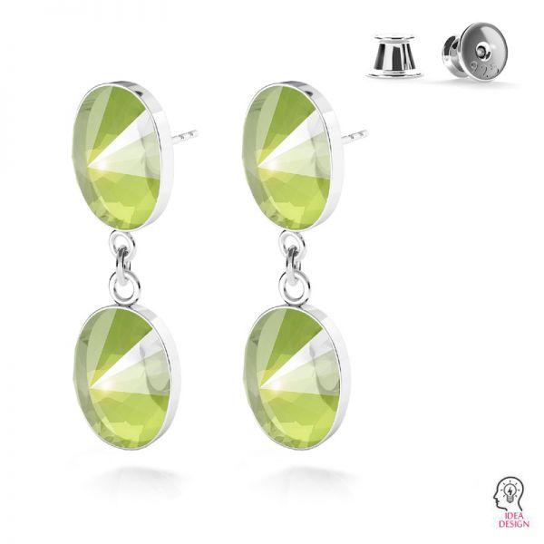 Sterling silver earrings Swarovski base, OKSV 4122 MM 14,0 KLS CON 1