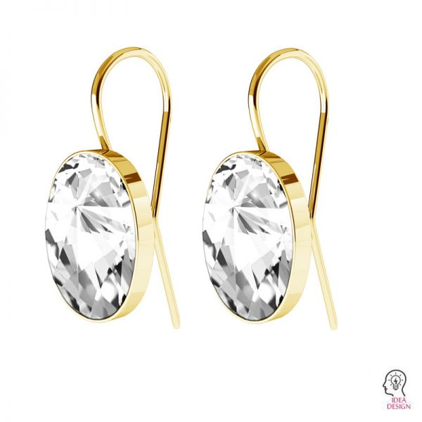 Sterling silver earrings Swarovski base, OKSV 4122 MM 14,0 BO