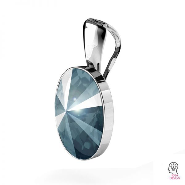Sterling silver pendant Swarovski base, OKSV 4122 MM 14,0 KR