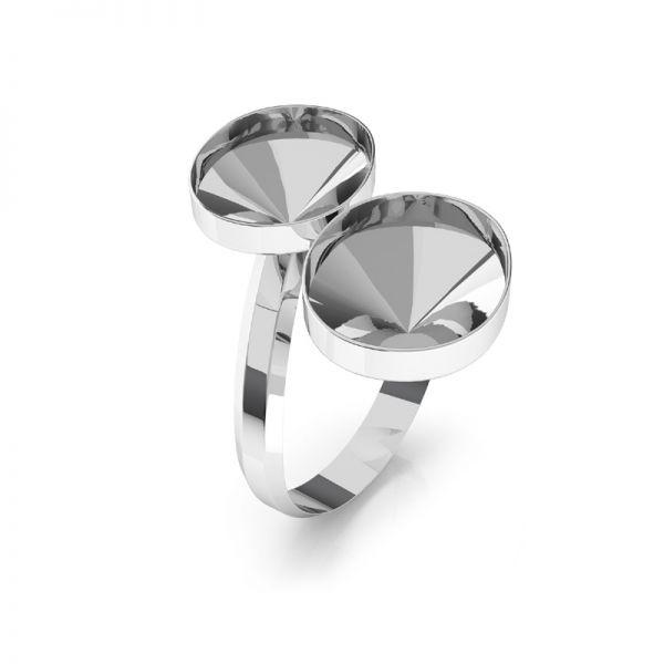Sterling silver ring Swarovski base, OKSV 4122 MM 14,0 DOUBLE RING