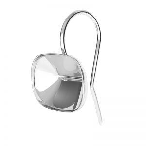 Sterling silver earrings Cushion Fancy Stone base, OKSV 4568 MM 14,0X 10,0 BO ver.2