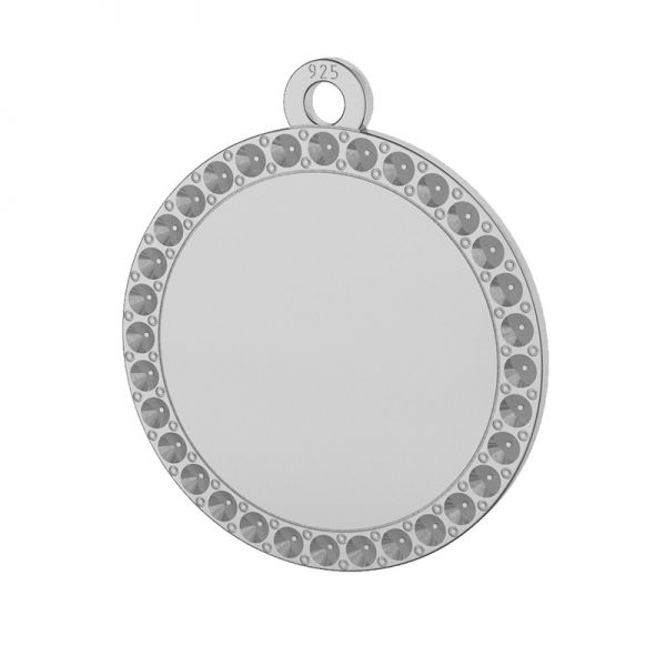 Round pendant, Swarovski base, sterling silver, LKM-2133 - 0,80 (1028 PP 4)