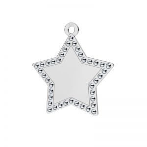 Star pendant with Swarovski Crystals, sterling silver, LKM-2132 - 0,80 ver.2