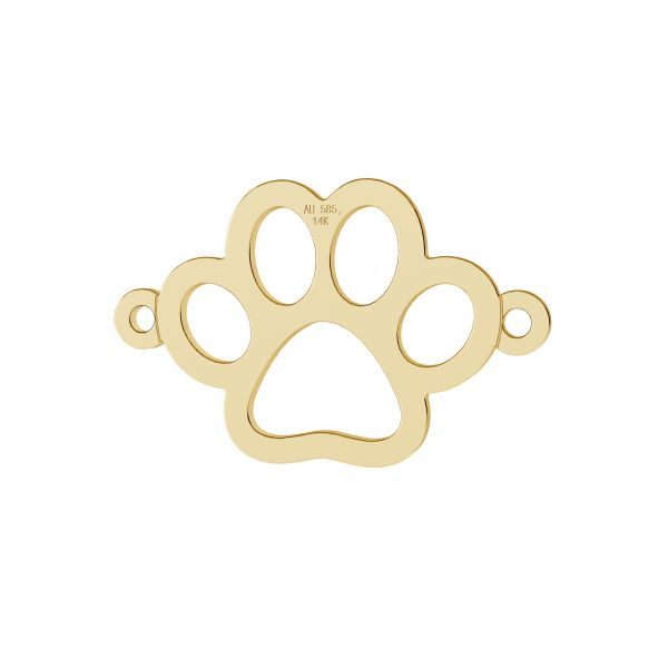 Gold dog pawt pendant, gold 14K, LKZ-00366 - 0,30