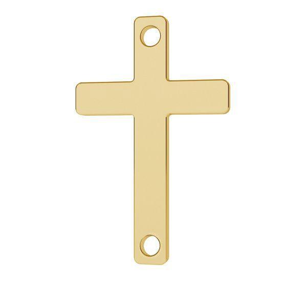 Cross pendant connector gold 14K, LKZ-01570 - 0,30