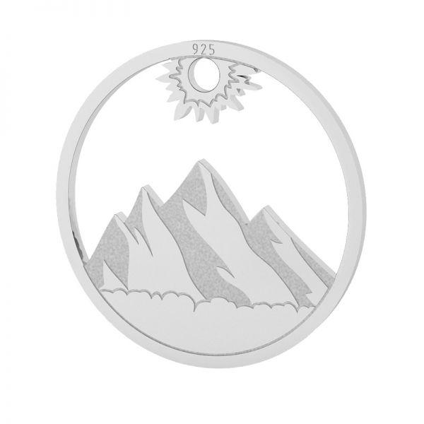 Mountain pendant, sterling silver 925, LKM-2131