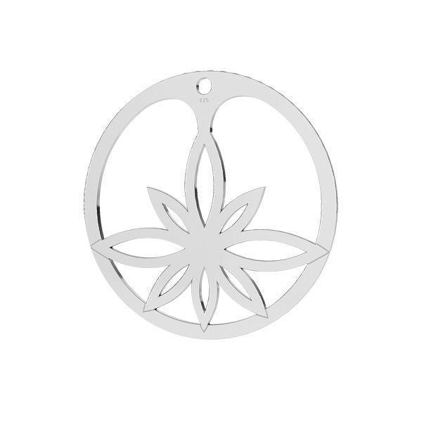 Lotus flower pendant, LKM-2163 - 05
