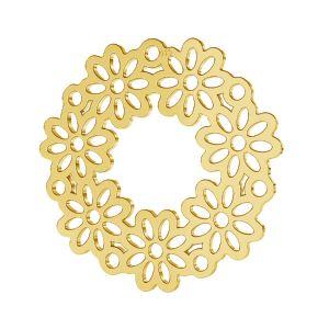 Round flower openwork pendant, sterling silver, LKM-2179 - 0,50