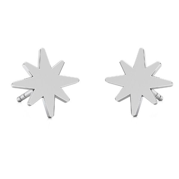 Star earrings, sterling silver 925, LKM-2239 KLS - 0,50